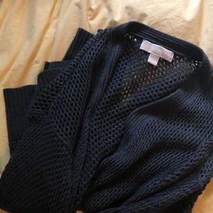 Beautiful Navy Knit Michael Kor's Cardigan
